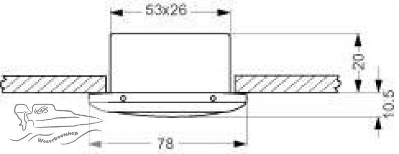 einbauleuchten 12v led 13 50. Black Bedroom Furniture Sets. Home Design Ideas