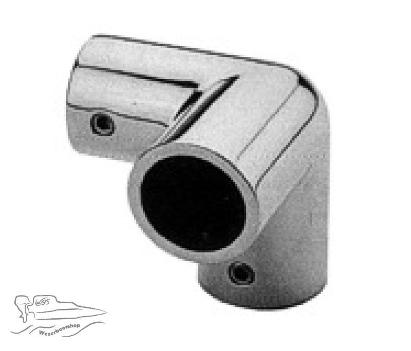 Winkelstück, 3 Wege - für Rohr-Ø 22mm - Edelstahl, 1