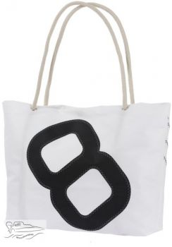 Sailcloth tote bag 12 litre - withe