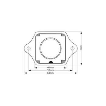 Kunststoff//Messing verchromt Druckknopf Möbelschloss